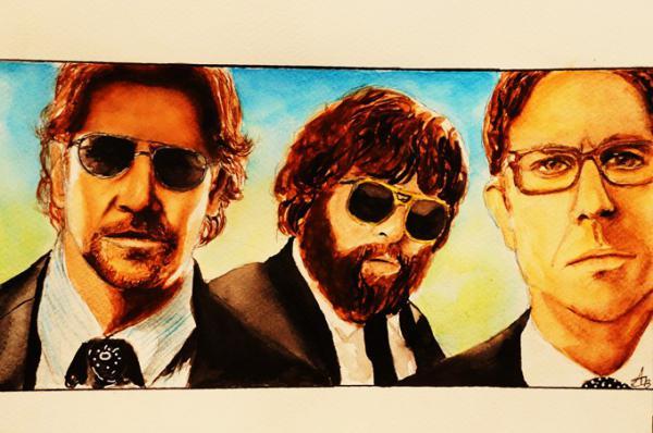 Bradley Cooper, Zach Galifianakis, Ed Helms par aurore.clement